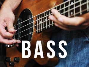 Person playing a bass